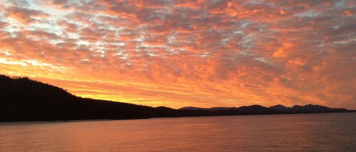 Sunset over Bruny Island