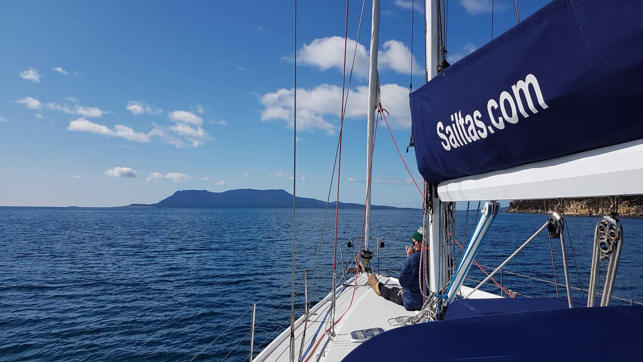 Sailtas charter sailing to Maria Island on the East Coast of Tasmania