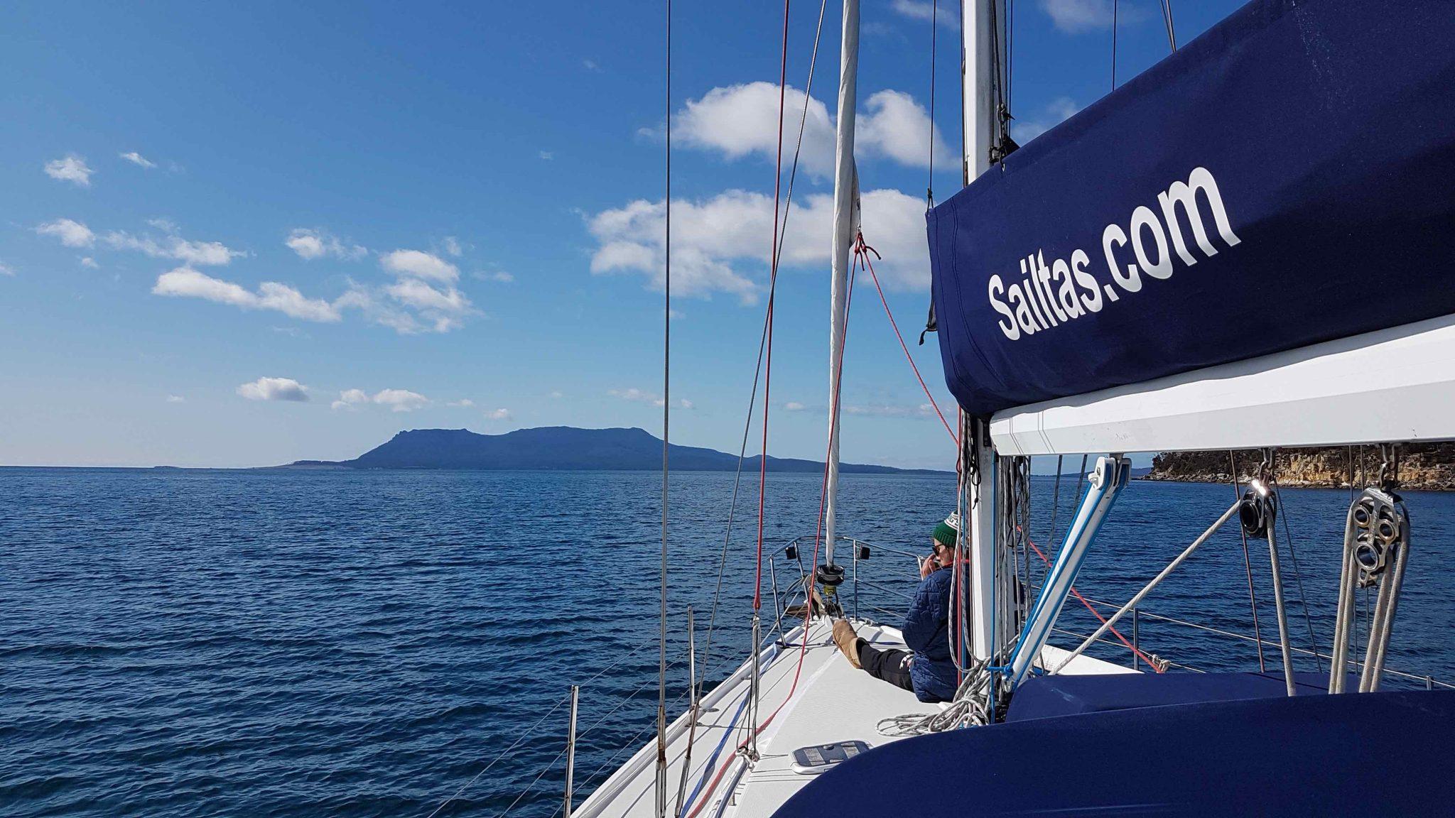 Sailtas charter sailing to Maria Island on the East Coast of Tasmania