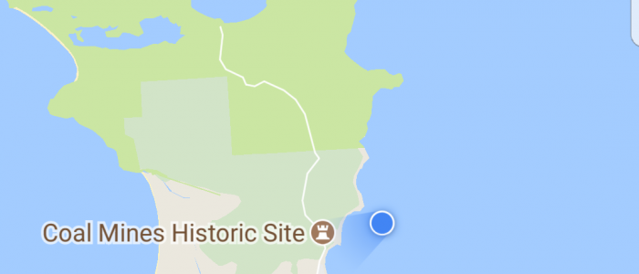 Sailing Tasmania | Map of historic coal mines