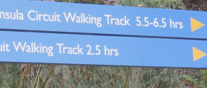 Luggaboine Circuit and Labillardiere Peninsula Walking Track signage