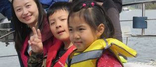 Chinese children sailing